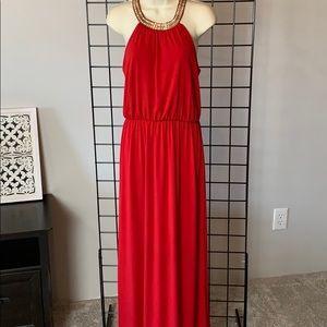 Sexy Red Maxi Dress by Purple Snow, EC, L